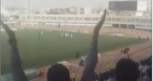 هدف الحسن العيد موريتانيا 1 -0 الجزائر -تصوير عبدالله احمد سيفر من المدرجات