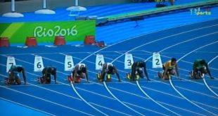 مشاركة العداء الموريتاني جدو ولد المختار في تصفيات سباق 100م بالاولمبياد