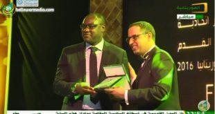 تكريم  نجم الكرة الكاميروني باتريك مبوما في حفل FFRIM Awards 2016