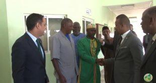 زيارة وزير الشباب للاتحادية الموريتانية لكرة القدم