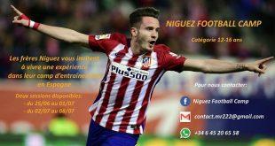 دعوة من لاعب المنتخب الاسباني و نادي اتلتيكو مدريد للناشئين في موريتانيا