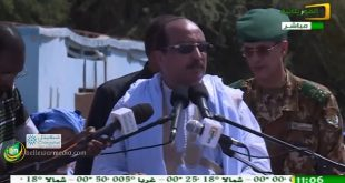 خطاب رئيس الجمهورية محمد ولد عبد العزيز في مهرجان روصو في حملة الاستفتاء على الدستور