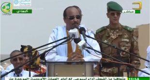 خطاب رئيس الجمهورية محمد ولد عبد العزيز في مهرجان كيهيدي في حملة الاستفتاء على الدستور