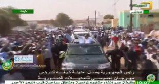 وصول ولد عبد العزيز إلى مدينة كيفه  – حملة الاستفتاء على الدستور