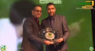 تكريم نجم الكرة  المغربية نور الدين النيبت في حفل جوائز الكرة الموريتانية 2017 FFRIM AWARDS