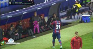 الحسن العيد يلعب لأول مرة اساسيا في الدوري الاسباني ويخرج في الدقيقة37