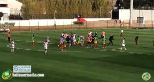 شجارعنيف بين المنتخب المغربي لأقل من 20 سنة ومنتخب موريتانيا بعد تأهل موريتانيا من الرباط